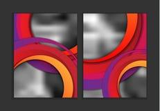 Moldes coloridos do informe anual Fotografia de Stock
