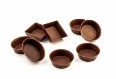 Moldes comestibles del chocolate Fotos de archivo