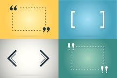Moldes criativos das citações da motivação Conceito de projeto das bandeiras do discurso da tipografia do vetor Imagem de Stock