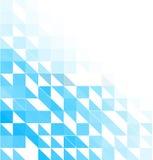 Moldes criativos do projeto do fundo azul do mosaico Fotos de Stock