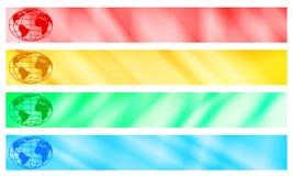 Moldes da bandeira do globo Foto de Stock