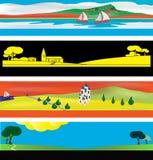 Moldes da bandeira do Web Fotos de Stock Royalty Free