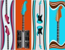 Moldes da bandeira do Web da música Fotografia de Stock