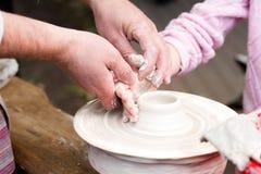 Moldes da criança da argila Imagens de Stock Royalty Free
