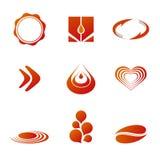 Moldes da marcagem com ferro quente/logotipo Fotos de Stock Royalty Free