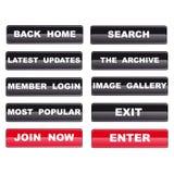 Moldes da navegação do Web para o local satisfeito dos media Imagem de Stock