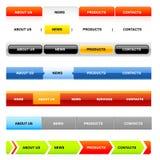Moldes da navegação do Web site (variação no branco) Fotografia de Stock Royalty Free