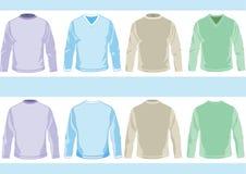 Moldes das camisas ilustração stock