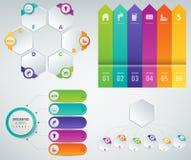 moldes de 3D Infographics ajustados Conceito da apresentação do negócio Vetor Imagem de Stock Royalty Free