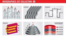 Moldes de Infographic para a ilustração do vetor do negócio EPS10 Imagem de Stock Royalty Free