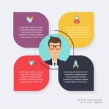 Moldes de Infographic para o negócio Pode ser usado para o layo do Web site ilustração royalty free