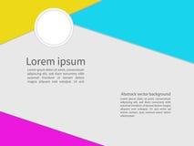 Moldes de papel do projeto, fundo abstrato geométrico Imagens de Stock