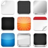 Moldes do ícone do App Imagens de Stock