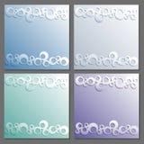 Moldes do cartão ajustados Forre o quadro Os anéis modelam com sombra Ilustração Royalty Free