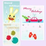 Moldes do cartão de Natal Imagens de Stock
