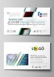 Moldes do cartão Disposição editável fácil, molde liso do estilo, ilustração do vetor Projeto colorido com ilustração do vetor