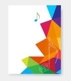 Moldes do cartaz da música Imagens de Stock