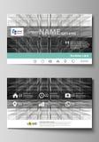 Moldes do cartão Disposição editável fácil, molde do projeto do vetor Fundo abstrato da infinidade, estrutura 3d com Imagens de Stock Royalty Free