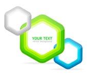 Moldes do discurso da seta para o texto Imagem de Stock