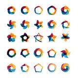 Moldes do logotipo ajustados Imagem de Stock Royalty Free