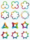 Moldes do logotipo ajustados Imagem de Stock