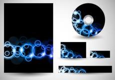Moldes do negócio azuis Foto de Stock