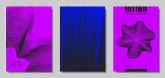 Moldes do projeto da tampa da onda ajustados ilustração royalty free