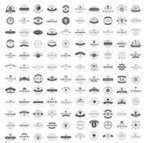 Moldes do projeto dos logotipos do vintage ajustados Fotos de Stock Royalty Free