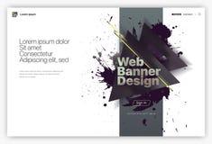 Moldes do projeto do página da web, tela bem-vinda, conceitos da bandeira para o Web site e desenvolvimento móvel do Web site foto de stock royalty free