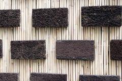 Moldes do retângulo em uma vara tecida Fotografia de Stock