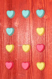 Moldes do silicone do dia de Valentim para cozer coração-dado forma Fotos de Stock