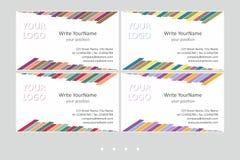 Moldes do vetor do cartão de Minimalistic Projeto geométrico universal com acento multicolorido - apenas lugar seu texto ilustração do vetor