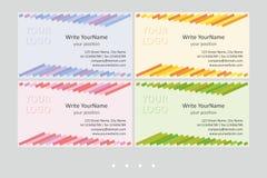 Moldes do vetor do cartão de Minimalistic Projeto geométrico universal com acento multicolorido - apenas lugar seu texto ilustração royalty free