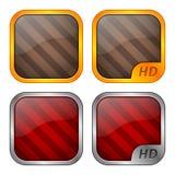 Moldes dos ícones do App Fotos de Stock