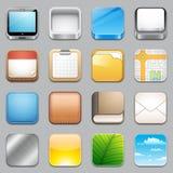 Moldes 2 dos ícones do App Foto de Stock