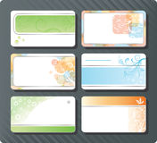 Moldes dos cartões Foto de Stock Royalty Free
