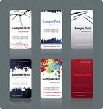 Moldes dos cartões Foto de Stock