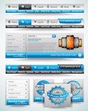 Moldes e materiais superiores do Web Imagem de Stock