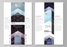 Moldes gráficos do negócio do blogue Molde do Web site da página, disposição do vetor Fundo poligonal abstrato com hexágonos ilustração do vetor