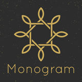 Moldes graciosos mínimos do projeto do monograma Fotos de Stock