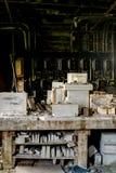 Moldes industriais refratários - refratários novos abandonados do castelo, castelo novo, Pensilvânia Fotografia de Stock