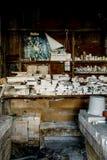 Moldes industriais refratários - refratários novos abandonados do castelo, castelo novo, Pensilvânia Foto de Stock Royalty Free