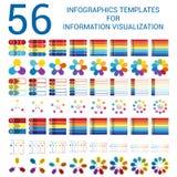 Moldes infographic ajustados para o visualização das informações Imagens de Stock Royalty Free