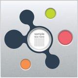 Moldes infographic do negócio com metaballs conectados Fotografia de Stock