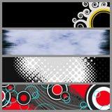 Moldes modernos da bandeira Fotografia de Stock