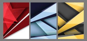 Moldes modernos das bandeiras do vetor ilustração stock