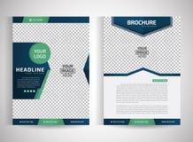 Moldes modernos de /design do folheto/informe anual dos insetos do vetor abstrato/artigos de papelaria com fundo branco em tamanh Fotografia de Stock Royalty Free