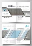 Moldes para o folheto, compartimento, inseto, brochura Molde de tampa, disposição lisa no tamanho A4 Investigação médica científi Imagem de Stock