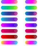 Moldes seguintes do ícone com a seta isolada no branco Imagens de Stock Royalty Free