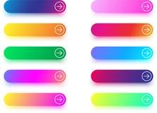 Moldes seguintes do ícone com a seta isolada no branco Imagem de Stock